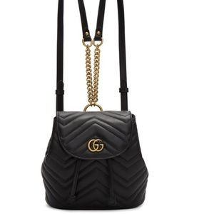 Gucci GG marmont leather backpack